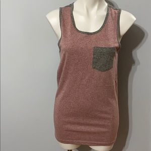 Gray and Red Muscle Tank